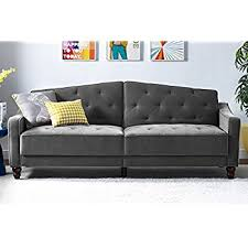 Velvet Sleeper Sofa Novogratz Vintage Tufted Sofa Sleeper With Mid