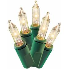 time 100 clear mini lights green wire