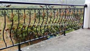 factory price ornamental wrought iron models railings for balconies