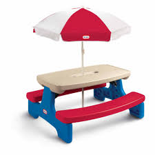 Little Tikes Storage Little Tikes Easy Store Table With Red U0026 White Umbrella Toys