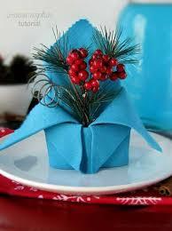 Decorative Napkin Folding Creative Napkin Ideas For Your Christmas Dining Table