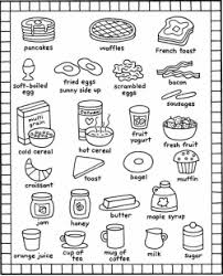 breakfast coloring pages kids recipes books food and kitchen
