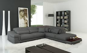 Chaise Lounge Corner Sofa by Milano Stylist Modern Grey Leather Corner Sofa Right Hand Cantos