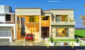 3d front elevation com 1 kanal house design