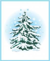 christmas tree with snow simple christmas tree with snow vector vector christmas free