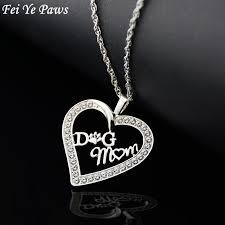 long heart pendant necklace images Dog mom heart pendant necklaces marsa jpg