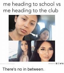 No School Meme - me heading to school vs me heading to the club photocredit jen