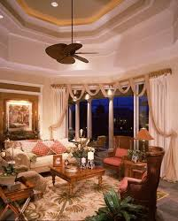 orange county tropical window treatments living room traditional