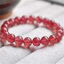 red crystal bracelet images 9mm genuine natural red strawberry quartz bracelets for women jpg