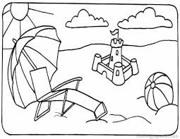 beach scene coloring page in coloring pages eson me