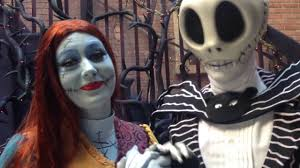 jack and sally from nightmare before christmas at disneyland youtube