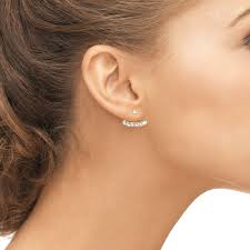 earrings that go up the ear earring jackets the edgy way to adorn your ear lobes misha lam
