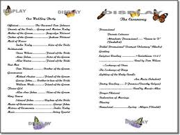 print your own wedding programs thinkwedding s monarch butterflies template collection of print