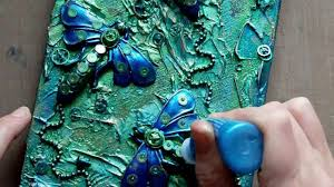 mixed media art canvas steampunk dragonflies youtube