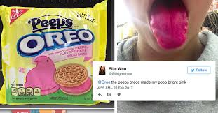 Oreo Memes - people are saying peeps flavored oreos turned their poop and saliva pink