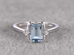 promise ring vs engagement ring 1 02ctw aquamarine engagement ring vs wedding band 14k