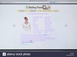 wedding planner software ez wedding planner website stock photo royalty free image