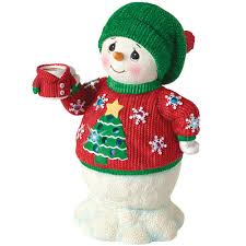 christmas gifts led musical snowman in ugly sweater plays jingle