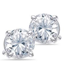 diamond earrings for sale platinum solitaire diamond earrings 1 00 ctw samuels jewelers