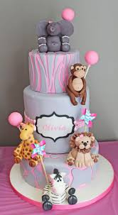 girly safari first birthday cake a cake for a first birthday
