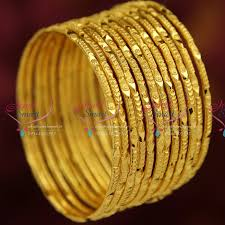 gold set for marriage b3737x 2 10 size gold plated 12 pieces bangles set party wear