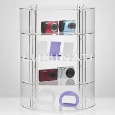 Acrylic Display Cabinet Circular Display Cabinet Made From Acrylic Shelves With Optional