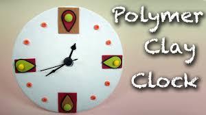 last minute gift idea diy easy clock polymer clay tutorial