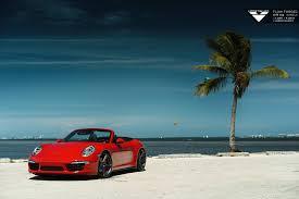 lowered porsche 911 red porsche 911 carrera 4s lowered on vorsteiner wheels gtspirit