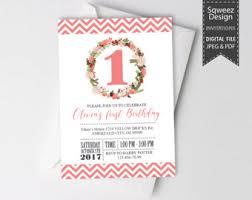 1st birthday invitation etsy