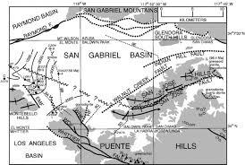 Newport Inglewood Fault Map Tectonics Of The San Gabriel Basin And Surroundings Southern