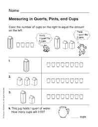 Gallon Worksheet Cups Pints Quarts Gallons Worksheets Mediafoxstudio Com