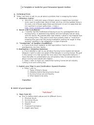 persuasive speech outline1 nursing home care assisted living