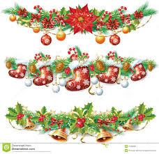 christmas garland clipart u2013 happy holidays