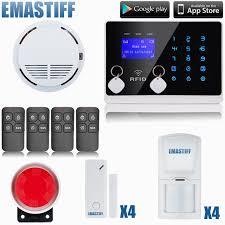 diy wireless wired gsm home security burglar alarm system kit with sos intercom gsm alarm system