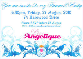 party invitation letter farewell party invitation haskovo me