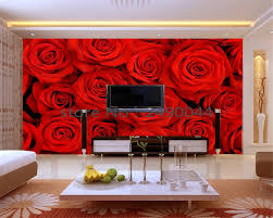 big wall murals promotion shop for promotional big wall murals on beibehang wallpaper big romantic red rose 3 d pictures on the wall mural wallpaper 3 d sitting room bedroom wallpapers