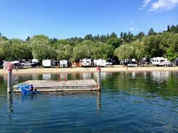 view from the boat dock picture of wood lake rv park and