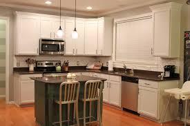 kitchen painted white kitchen cabinets in inspiring oak kitchen