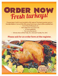 order your thanksgiving turkey chequamegon food co op