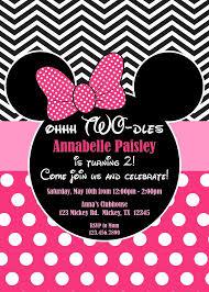 birthday invites marvelous minnie mouse 2nd birthday invitations