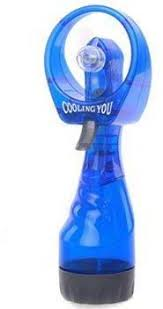 handheld misting fan battery operated handheld water misting mini fan blue price