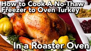 Toaster Oven Turkey Freezer To Oven Turkey In A Rival Roaster Oven Youtube