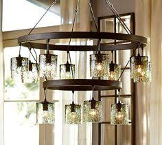 modern spanish style wrought iron chandelier pottery barn