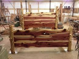 bed frames rustic queen bed bear log bed frame solid wood