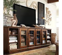living room media furniture pottery barn tv wall cabinet home design and pictures