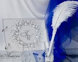 wedding guest book set guest book pens etsy