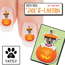 jack russell jack o lantern nail art decals now 50 more free