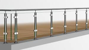 edelstahl balkon mit glas edelstahlgeländer pfostengeländer aus bausatz in profiqualität günst