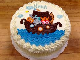 Noah S Ark Decorations Noah U0027s Ark Baby Shower Cake Decorated With Hand Piped Buttercream