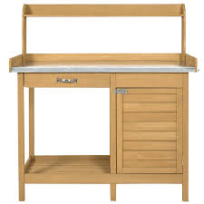 Serving Station Patio Cabinet Amazon Com Potting Benches U0026 Tables Patio Lawn U0026 Garden